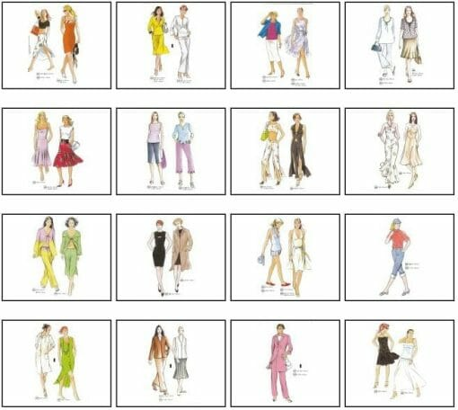 Sewing patterns overview from supplement no. 241