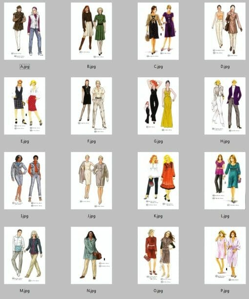 Sewing Patterns Winter 275