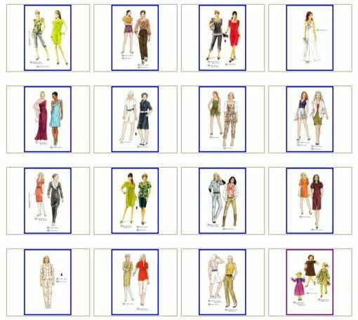 Sewing patterns for the spring