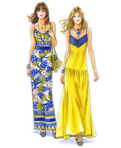 Sewing Patterns for Dresses. Model 11 & 12