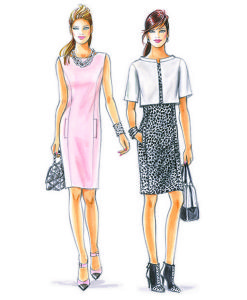 Sewing Patterns for a dress and a jacket. Model 17 & 18.