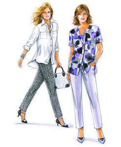 Sewing Patterns for Trousers and Blouses