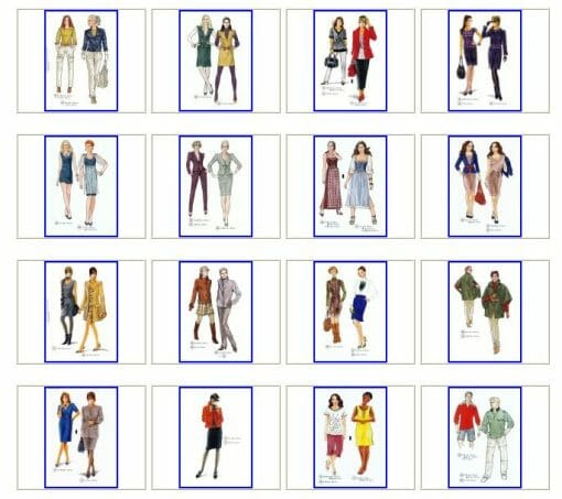Sewing patterns overview Autumn